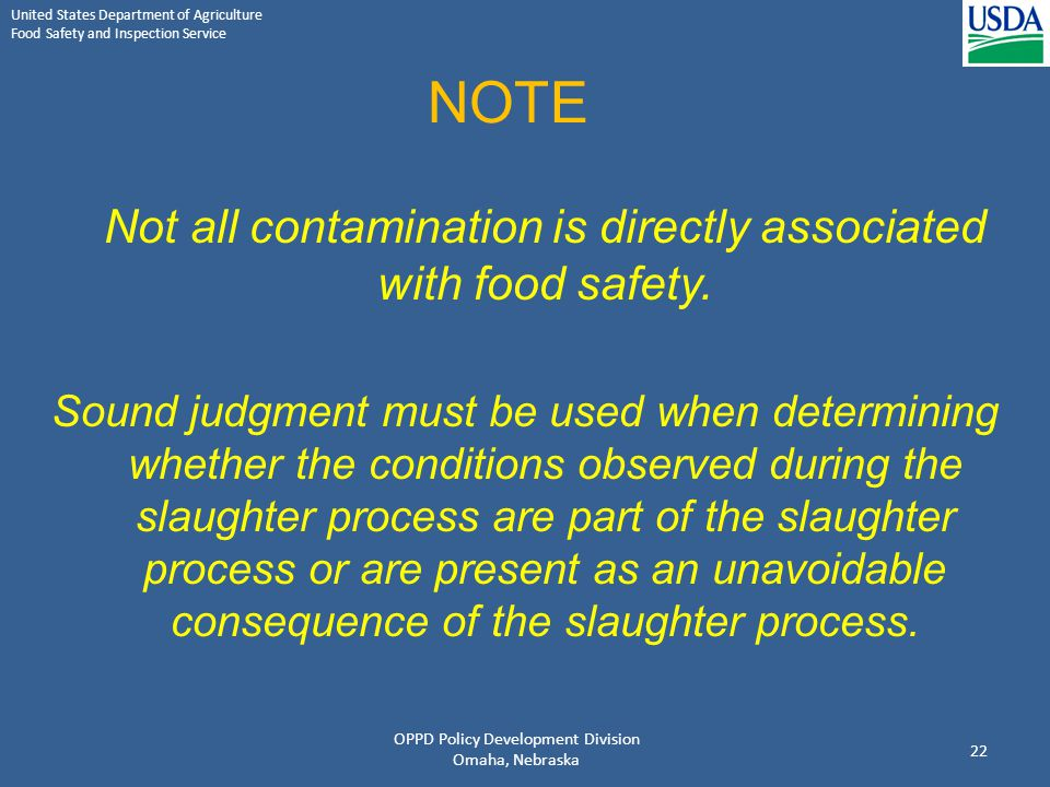 NOTE Not all contamination is directly associated with food safety.
