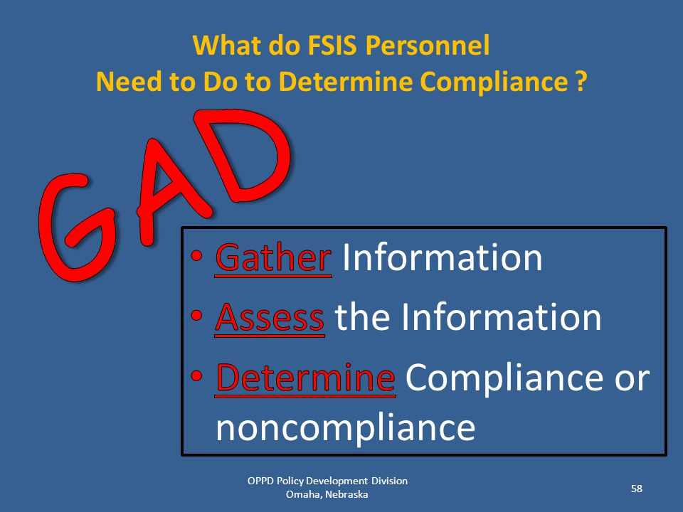 What do FSIS Personnel Need to Do to Determine Compliance