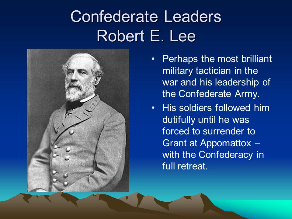 Confederate Leaders Robert E. Lee
