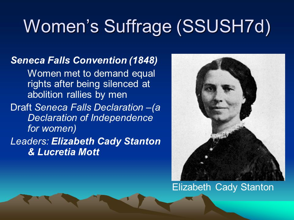 Women's Suffrage (SSUSH7d)