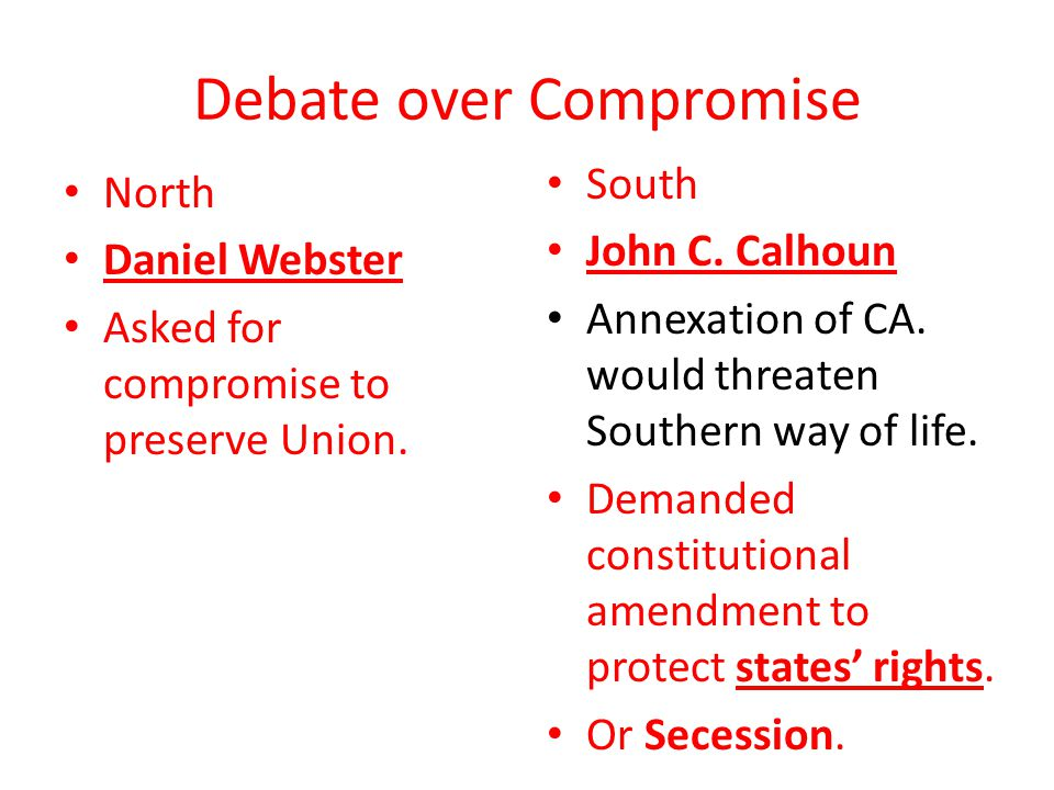 Debate over Compromise
