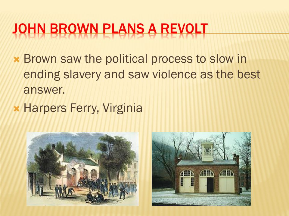 John Brown Plans a Revolt