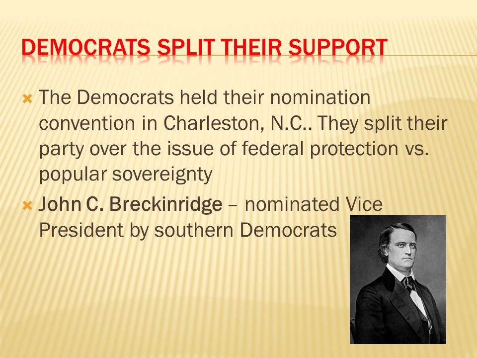 Democrats Split their Support