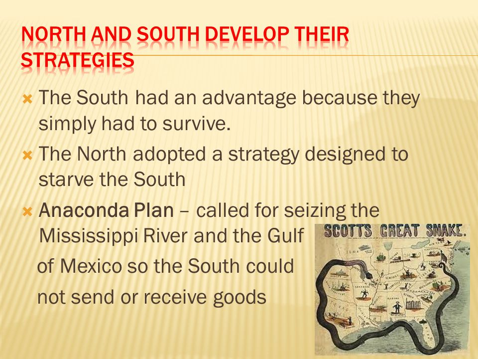 North and South Develop Their strategies