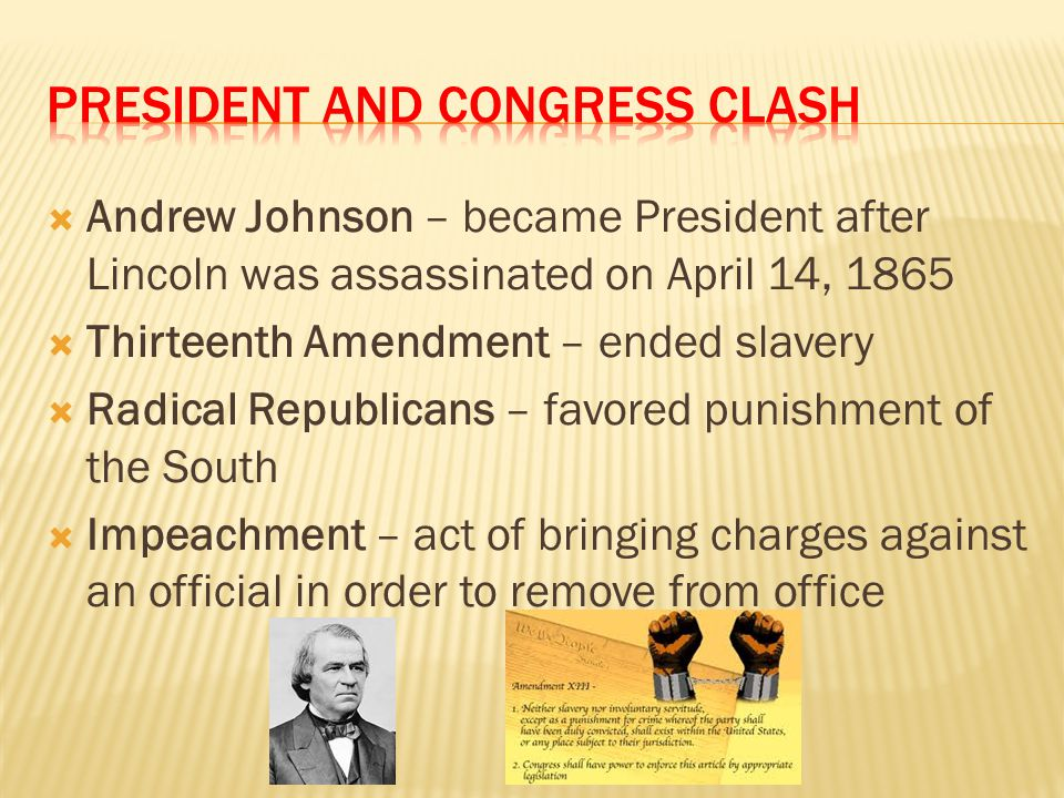President and congress clash