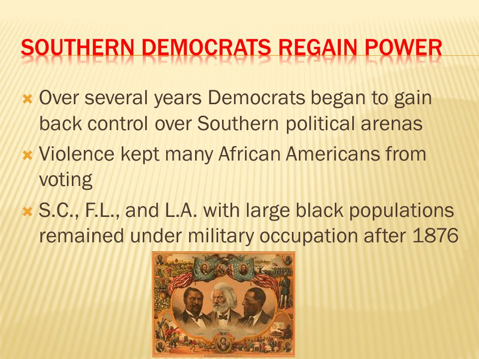 Southern Democrats Regain Power