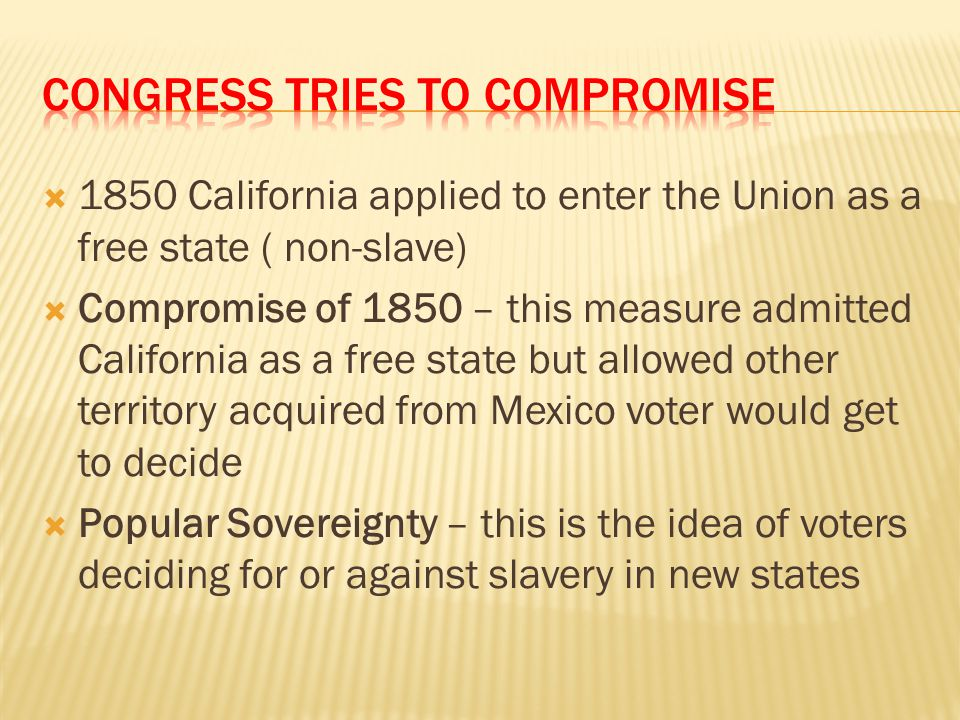 Congress Tries to Compromise