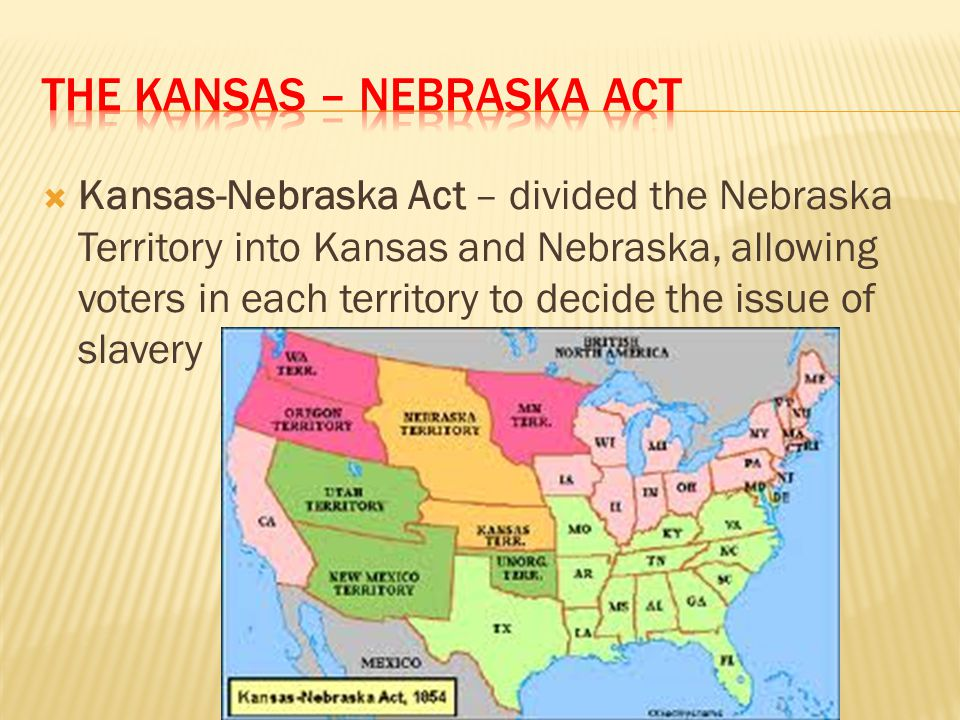 The Kansas – Nebraska Act