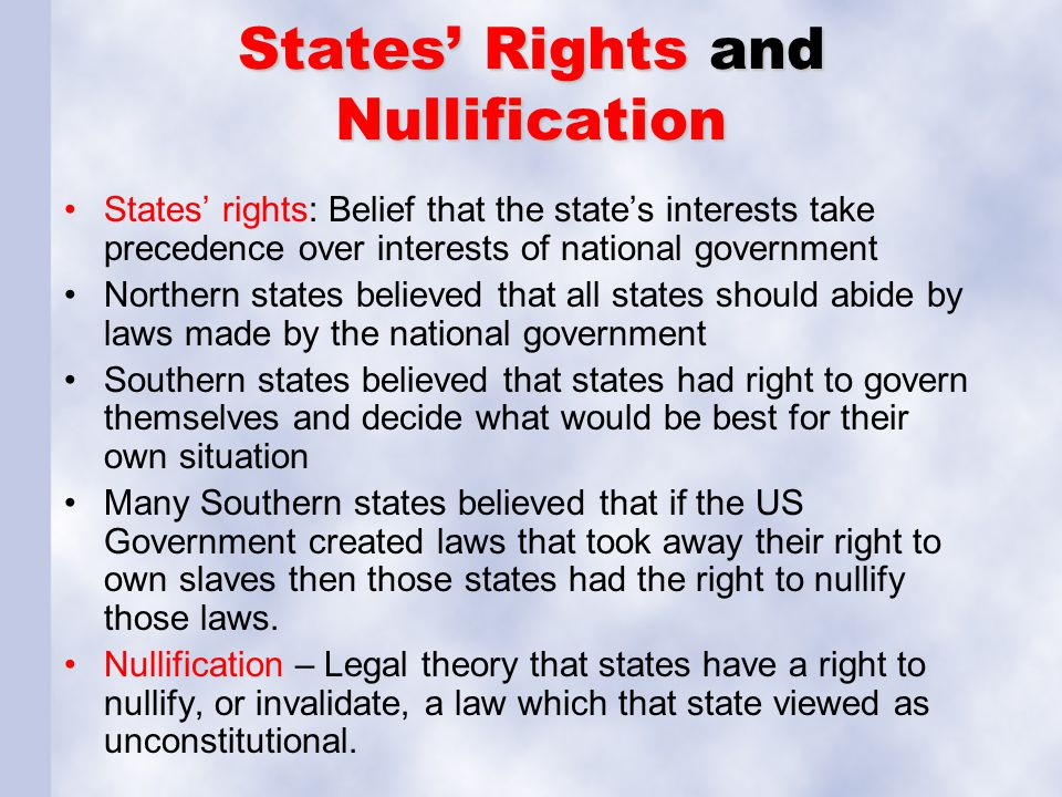 States' Rights and Nullification