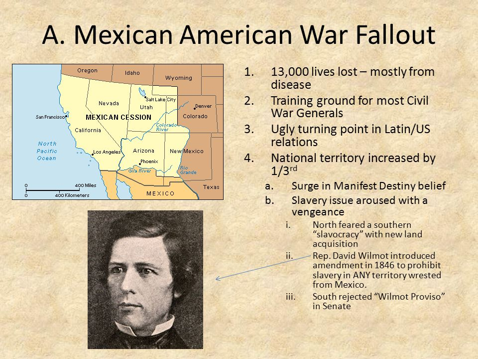 A. Mexican American War Fallout