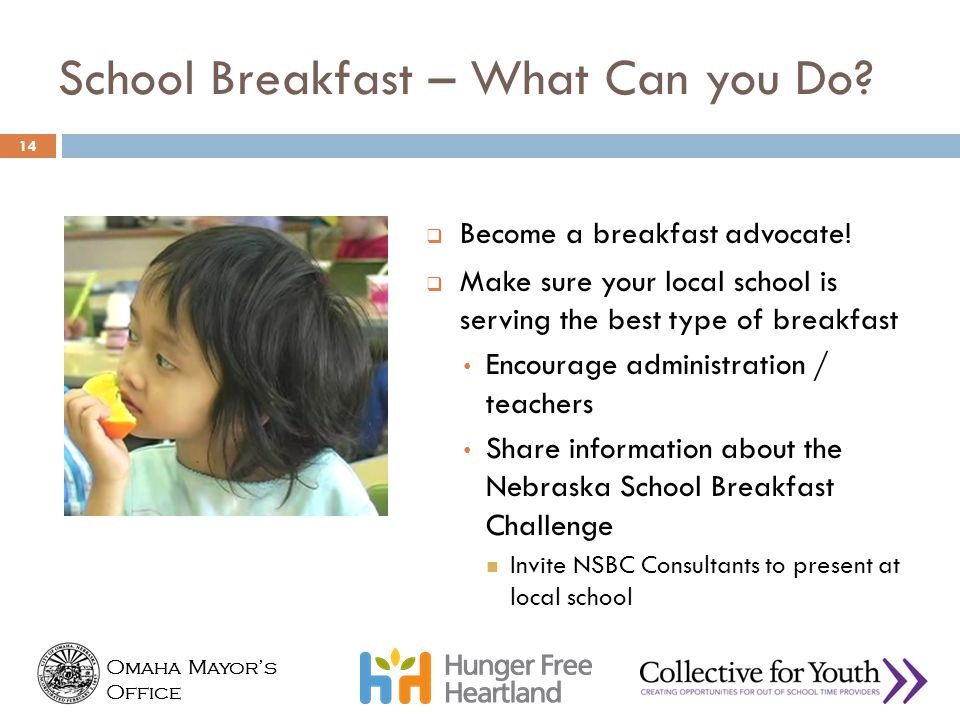 School Breakfast – What Can you Do