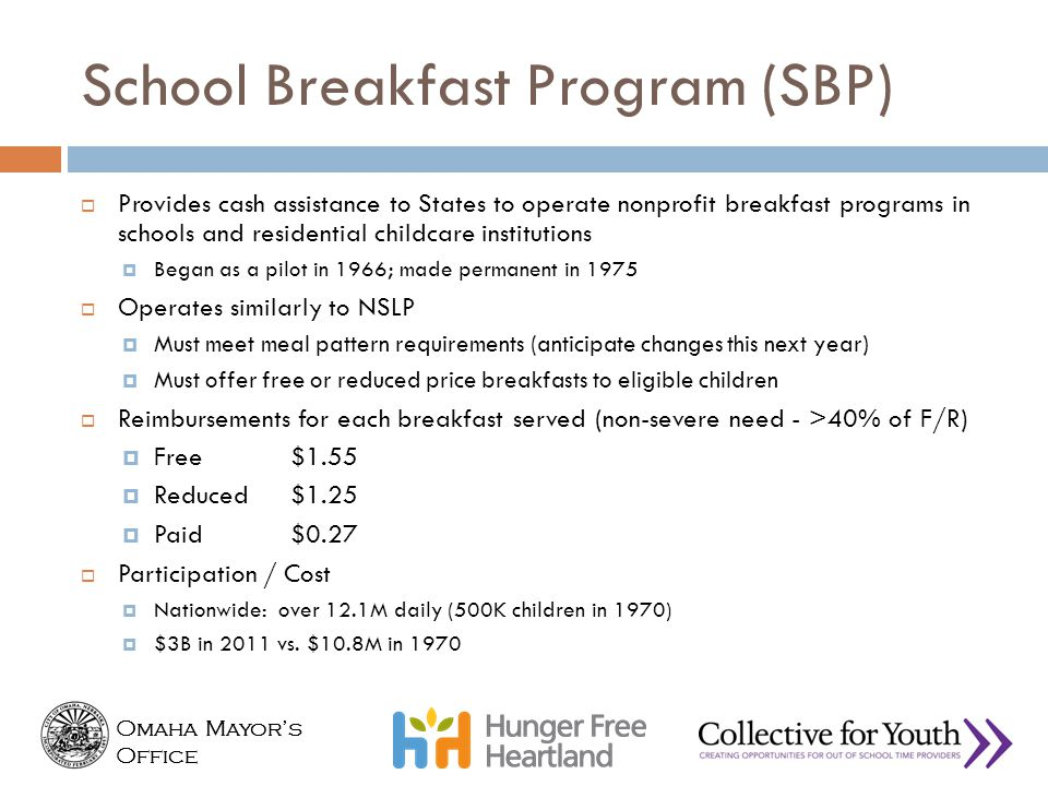 School Breakfast Program (SBP)