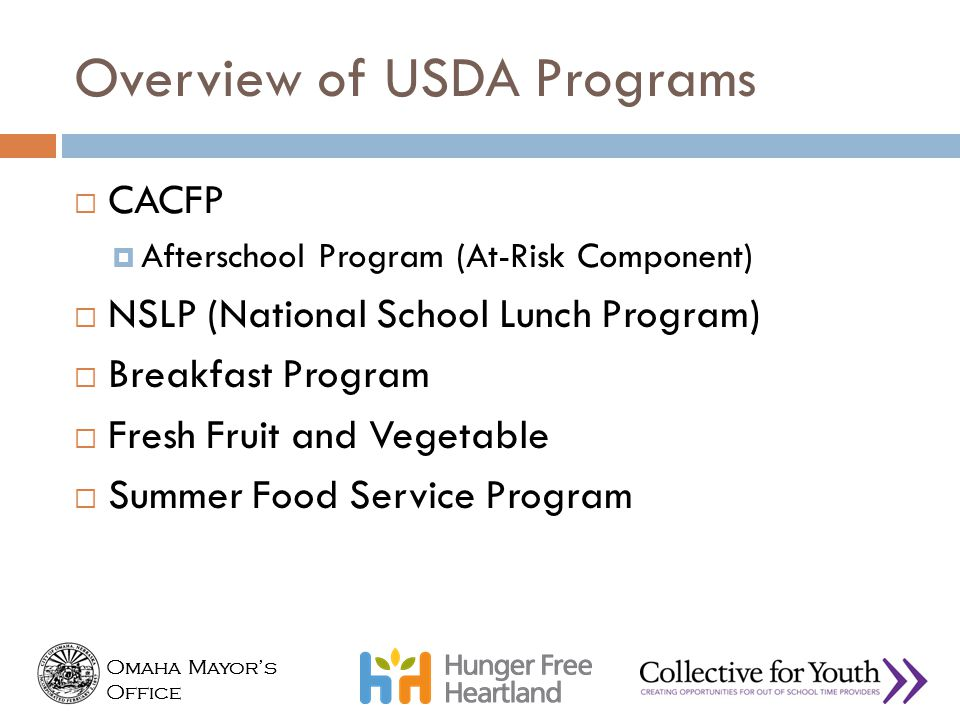 Overview of USDA Programs