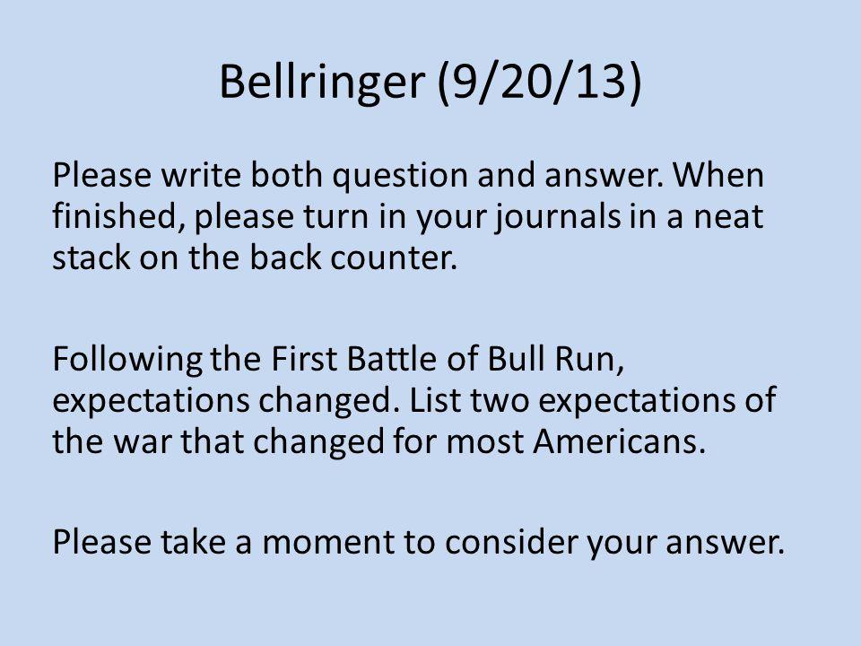 Bellringer (9/20/13)