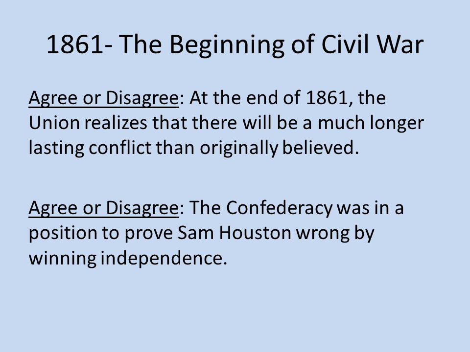 1861- The Beginning of Civil War