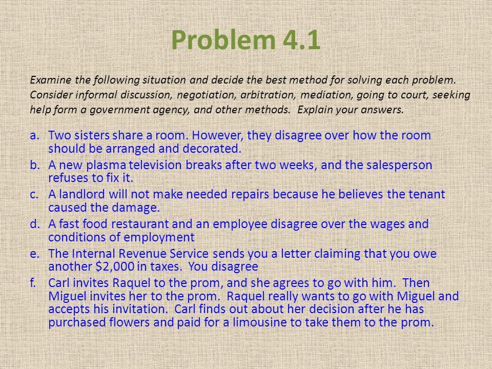 Problem 4.1