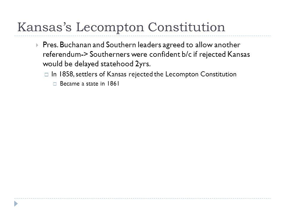 Kansas's Lecompton Constitution