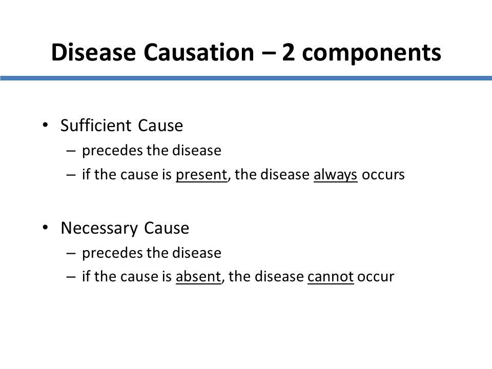 Disease Causation – 2 components