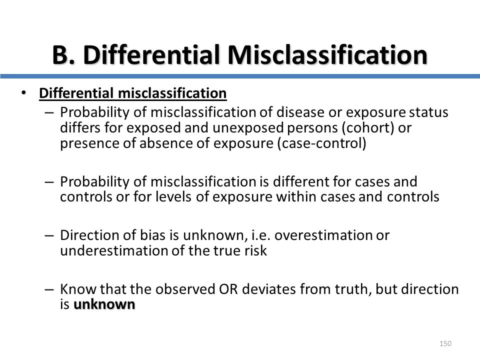 B. Differential Misclassification