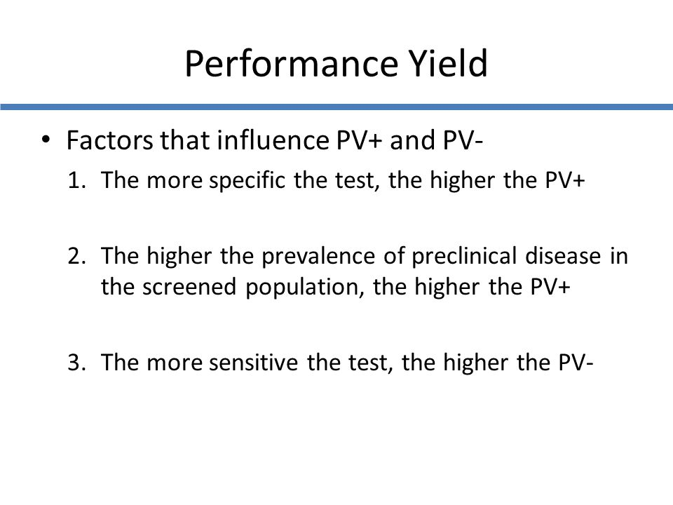 Performance Yield Factors that influence PV+ and PV-