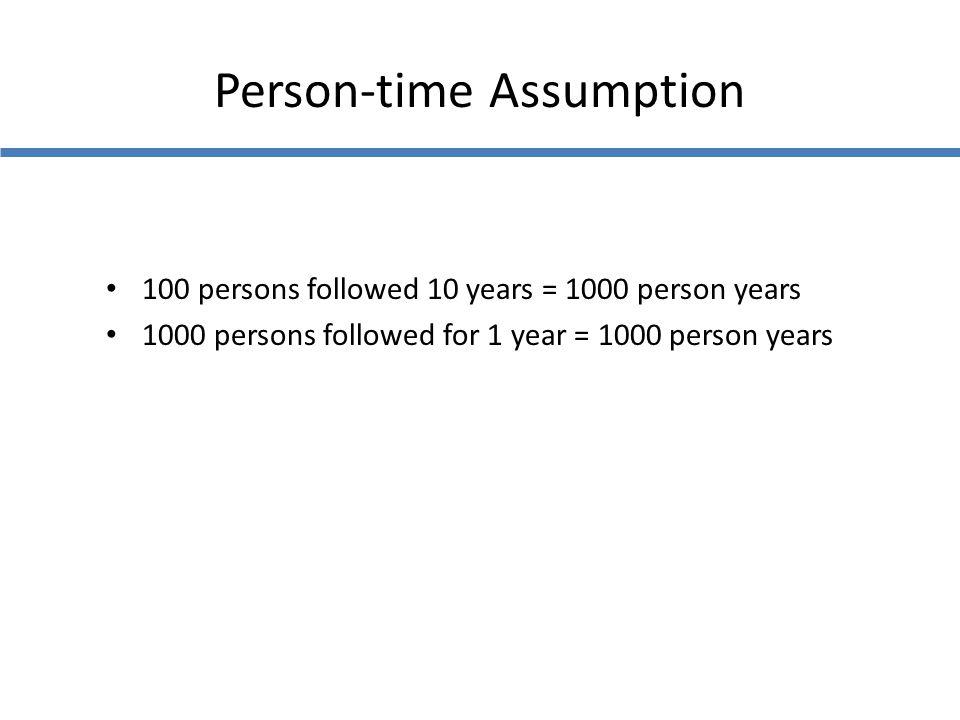 Person-time Assumption