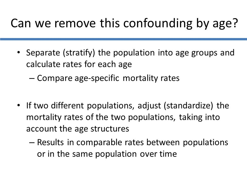Can we remove this confounding by age