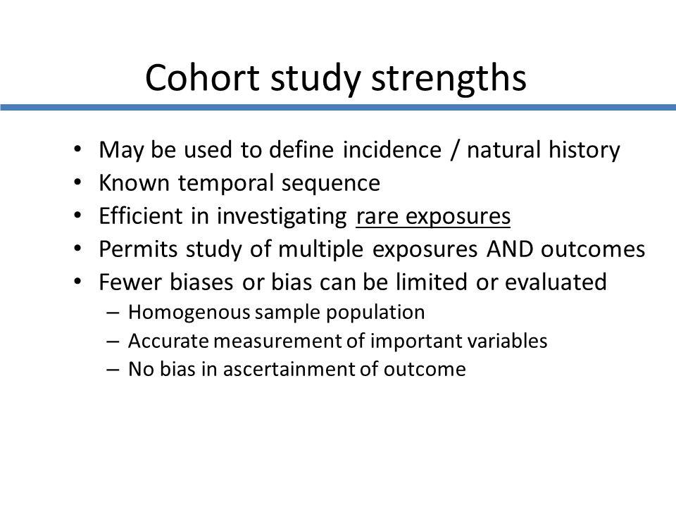 Cohort study strengths