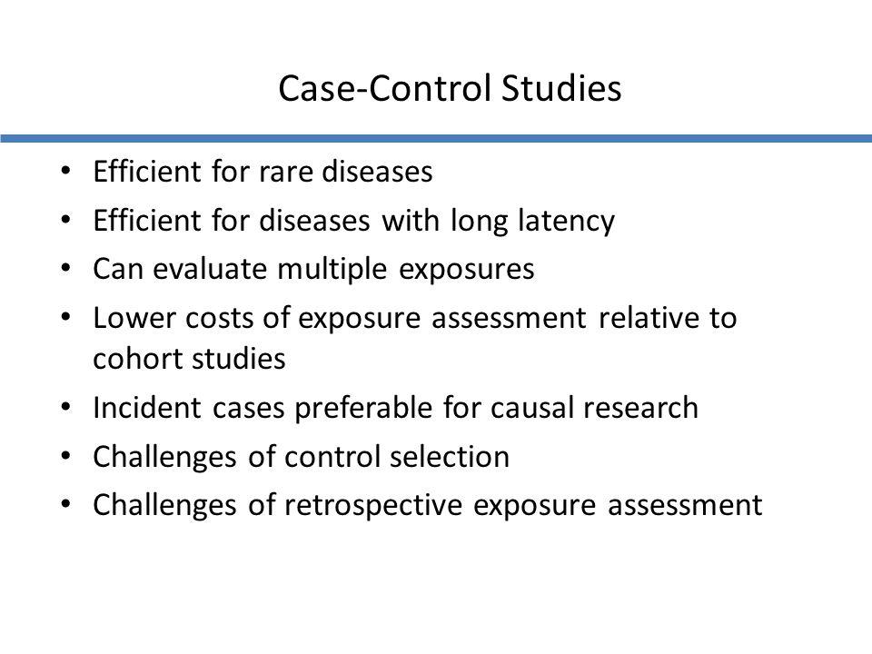 Case-Control Studies Efficient for rare diseases