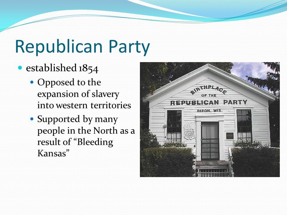 Republican Party established 1854