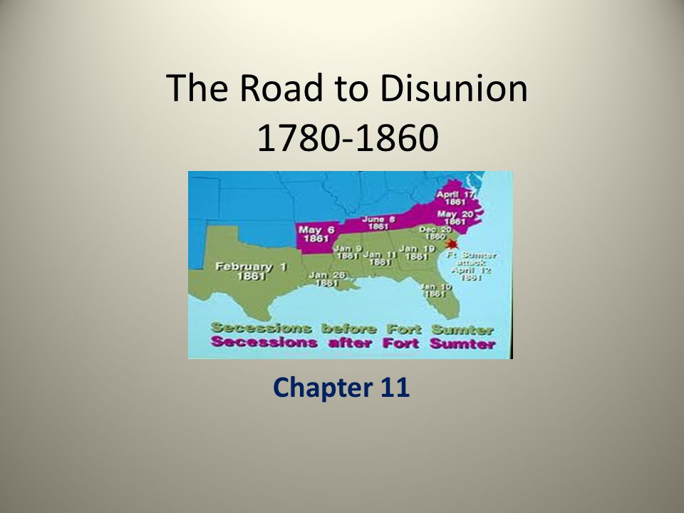 The Road to Disunion 1780-1860 Chapter 11