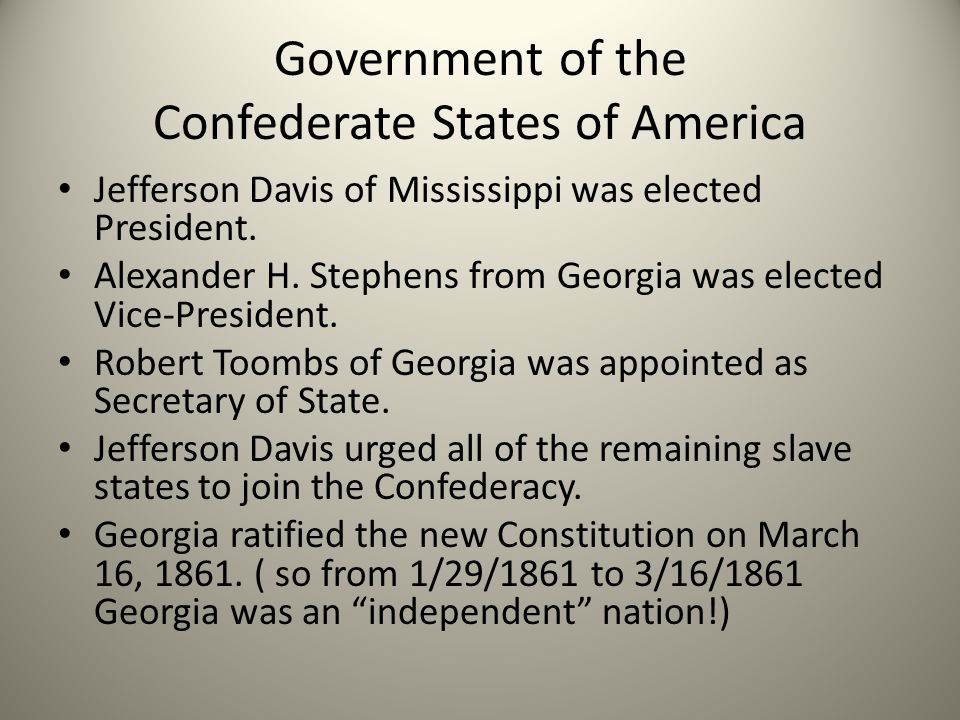 Government of the Confederate States of America
