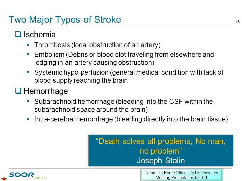 Two Major Types of Stroke