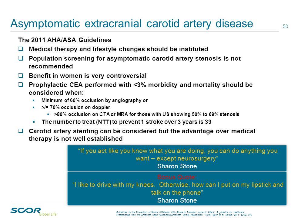 Asymptomatic extracranial carotid artery disease