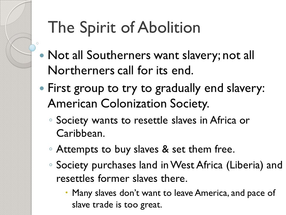 The Spirit of Abolition