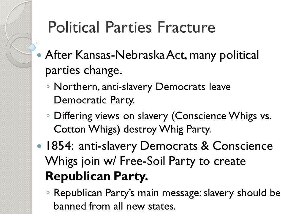 Political Parties Fracture