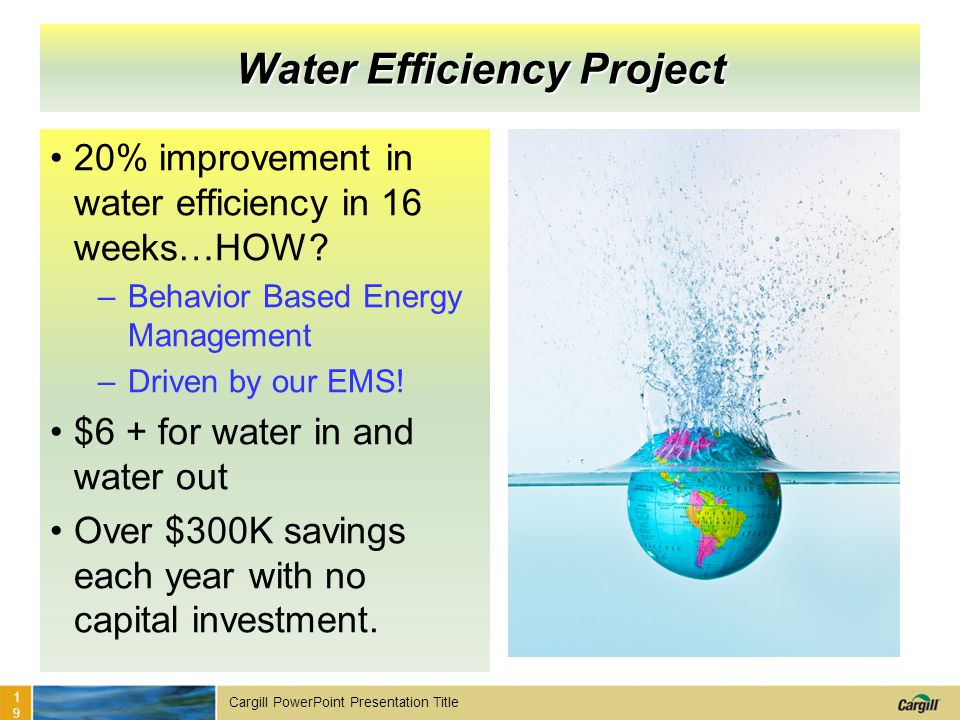 Water Efficiency Project
