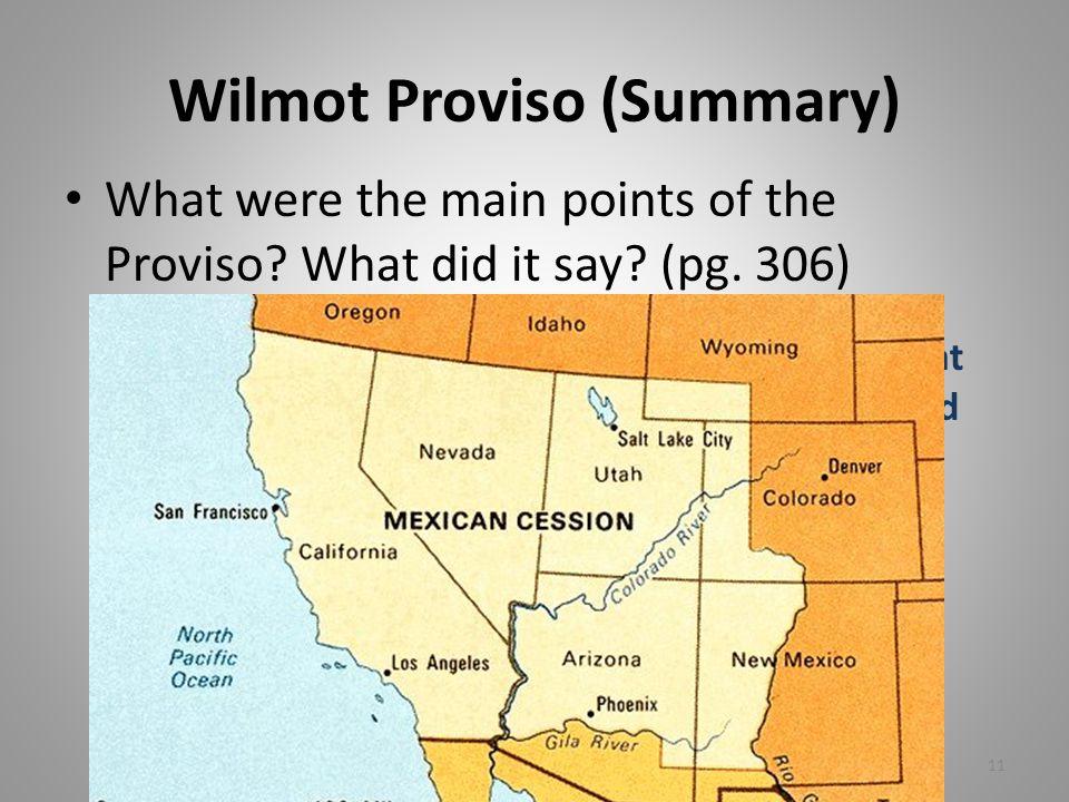 Wilmot Proviso (Summary)