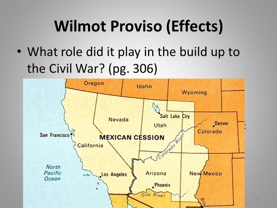 Wilmot Proviso (Effects)