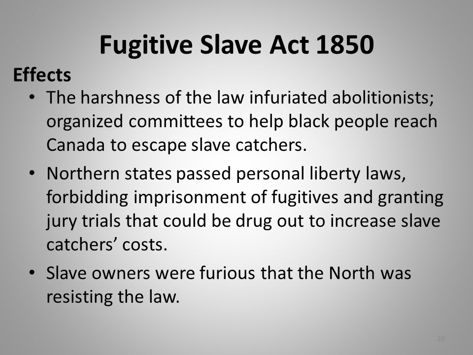 Fugitive Slave Act 1850 Effects