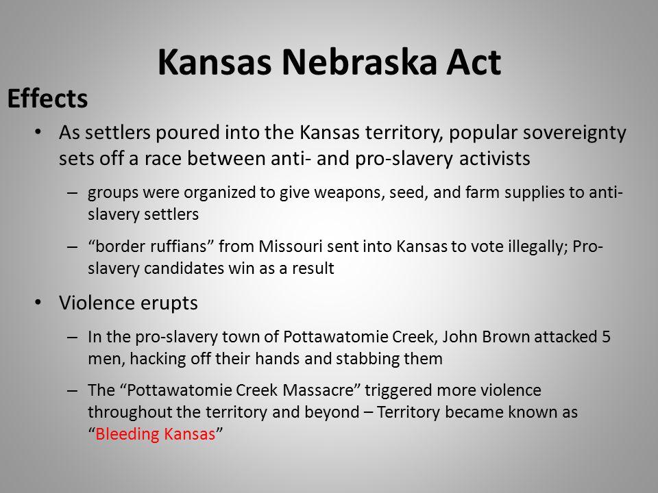 Kansas Nebraska Act Effects