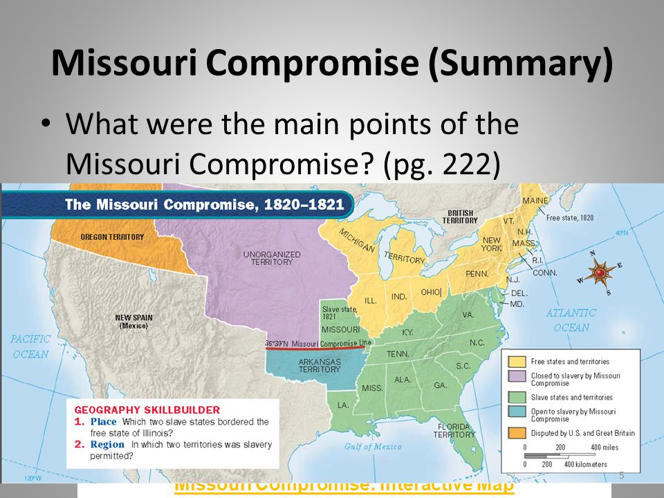 Longterm Causes Of The Civil War Ppt Video Online Download - Missouri compromise interactive map