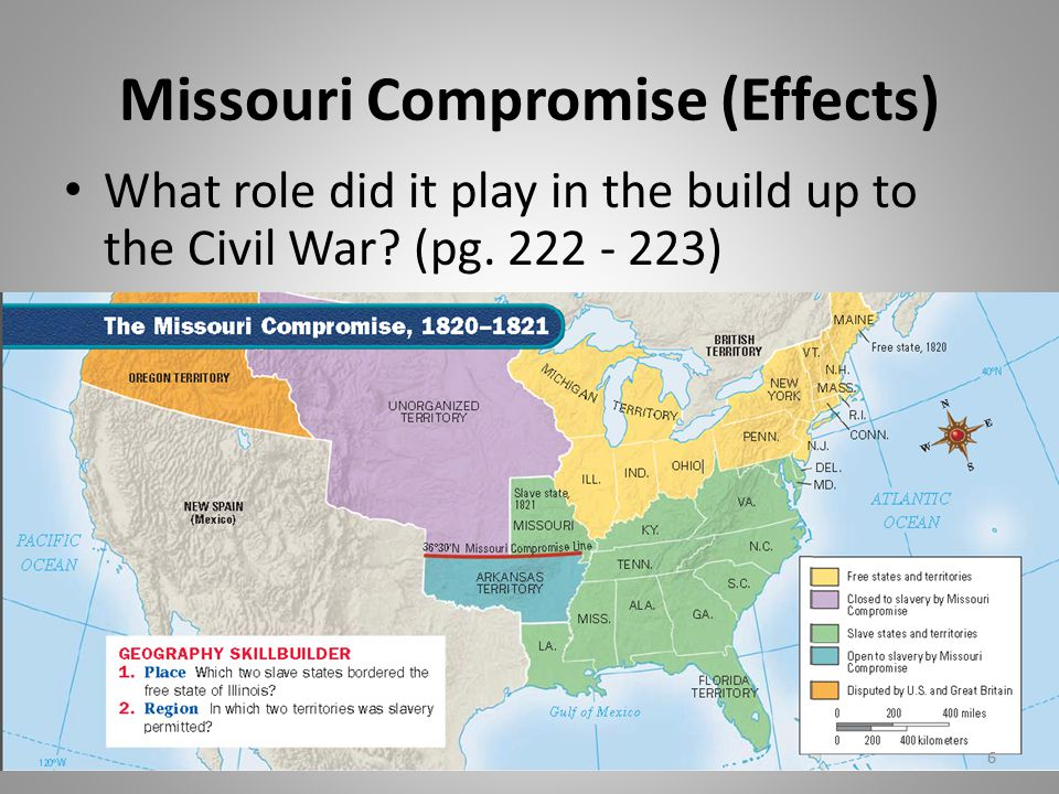 Missouri Compromise (Effects)