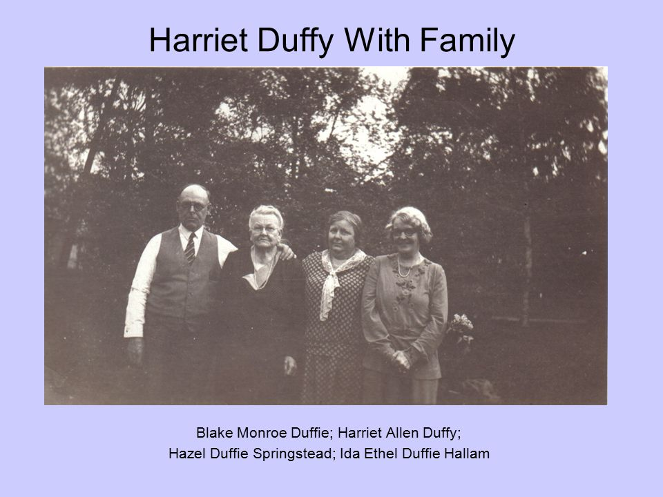 Harriet Duffy With Family