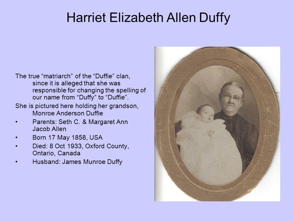 Harriet Elizabeth Allen Duffy