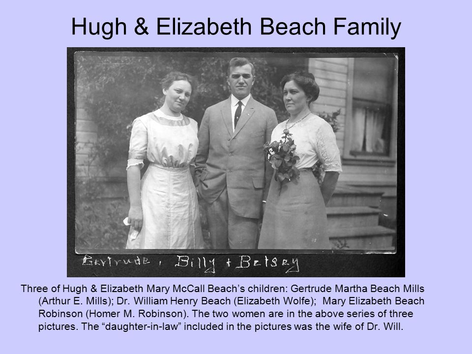 Hugh & Elizabeth Beach Family