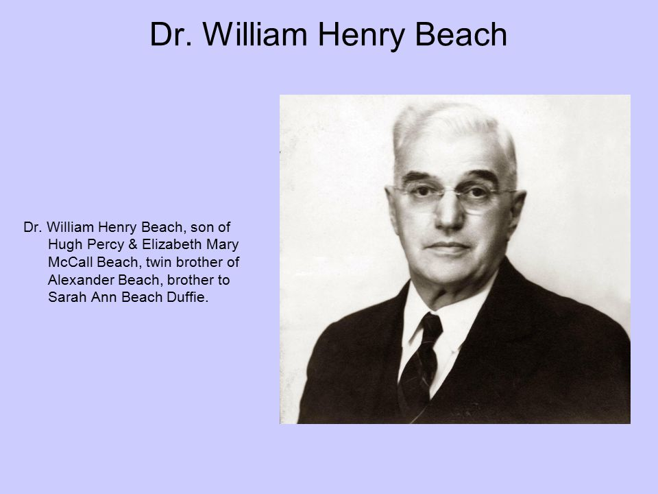Dr. William Henry Beach