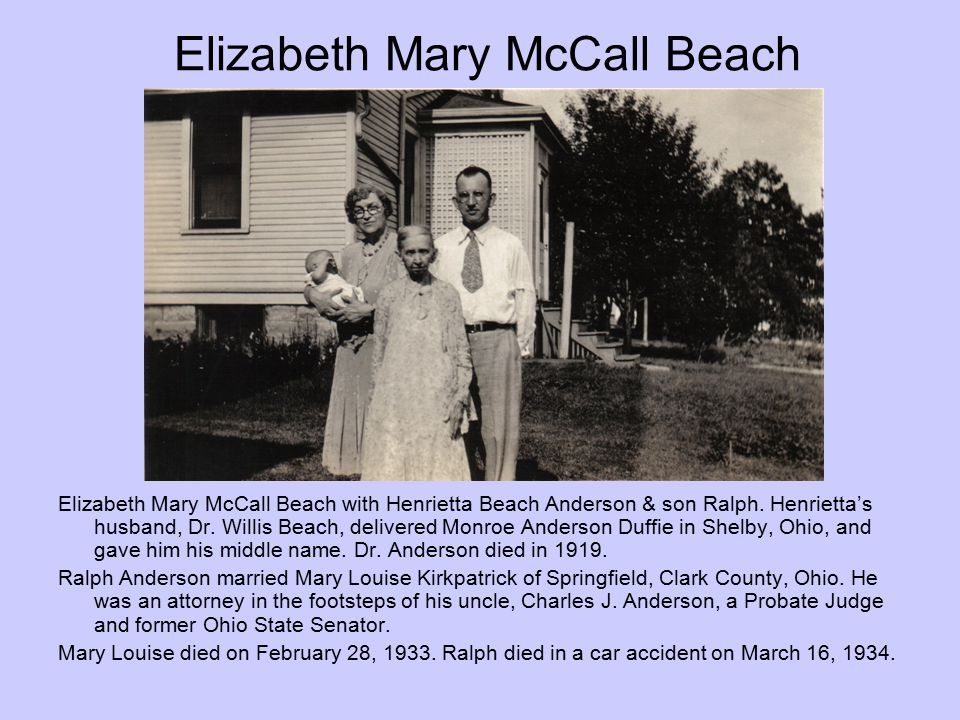 Elizabeth Mary McCall Beach