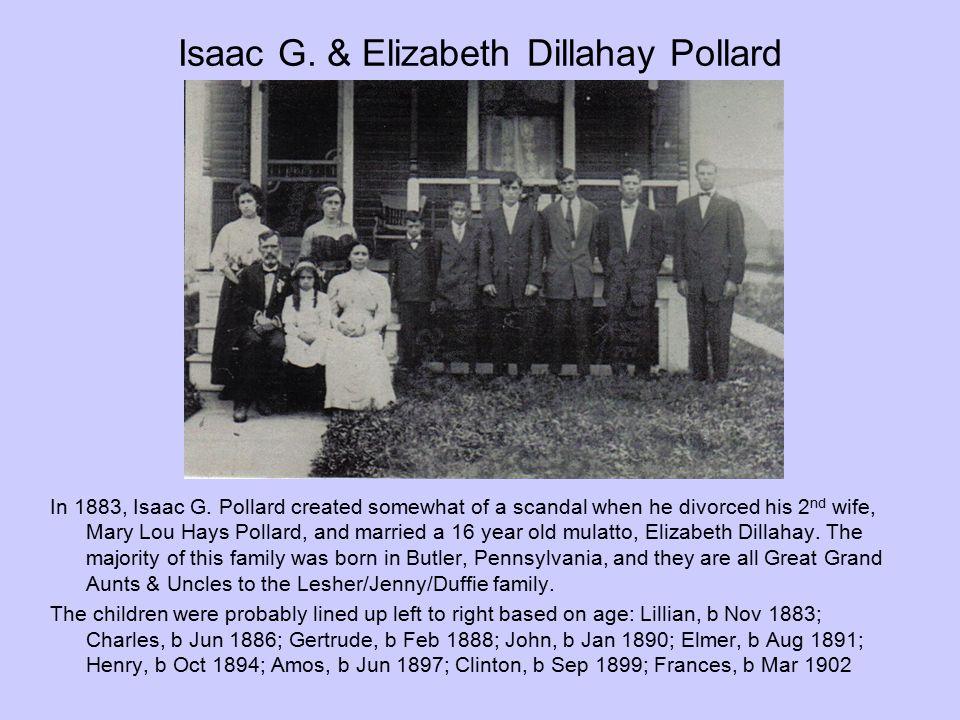 Isaac G. & Elizabeth Dillahay Pollard