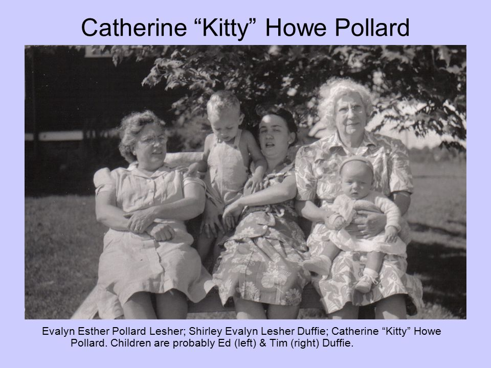 Catherine Kitty Howe Pollard