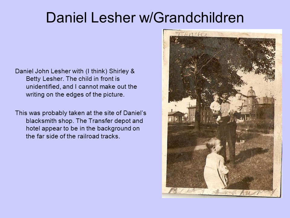 Daniel Lesher w/Grandchildren